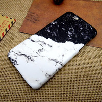 Black and white stitching mobile phone case for iPhone 7 7 plus iphone 5 5s SE 6 6s 6 plus 6s plus + Nice gift box 072601