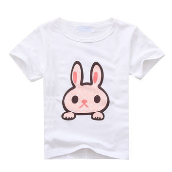 Choice of Girls Bunny, Elephant or Lion T Shirts