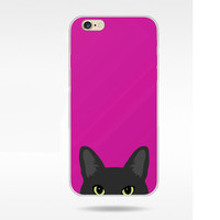 Lovely Cat pattern Soft TPU Back Cover phone case for For Iphone 5 5s 6 6s 6Plus 6s Plus-LJ1004