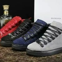Balenciaga Women's Classic Leather High Top Casual Sneakers Shoes