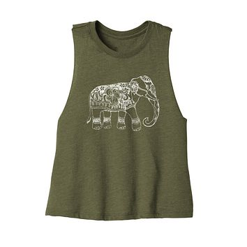 """NEW """"FORGET ME NOT"""" LADIES RACERBACK CROPPED TANK"""