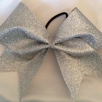 "Glitter Cheer Hair Bow Cheerleading 3"" Inch Large"