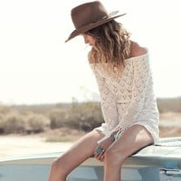 Hollow out tassel beach dress