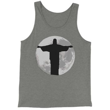 Jesus Outstretched Hands And Moon Jersey Tank Top for Men