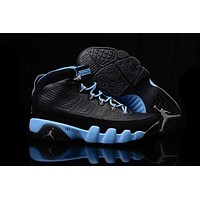 Nike Air Jordan 9 Retro Black/Blue Women Sport Shoe Size US 5.5-8.5