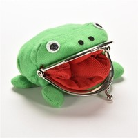 2016 New Arrival Frog Wallet Anime Cartoon Wallet Coin Purse Manga Flannel Wallet Cute purse Naruto Coin holder