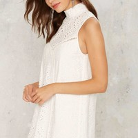 Eyelet It Go Sleeveless Top