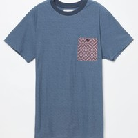 Billabong Micro Lux Pocket T-Shirt - Mens Tee - Blue