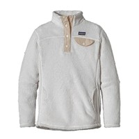 Patagonia Girls' Re-Tool Snap-T® Fleece Pullover | Raw Linen X-Dye w/Natural