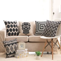 White and Black Decorative Pillows
