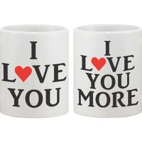 I Love You More Couple Mugs - 365 Printing Inc