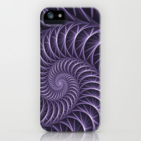 Fractal Lilac Flower Spiral iPhone & iPod Case by Gabiw Art | Society6