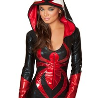 Black and Red Spider Romper : One Piece Outfits