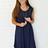 * Marissa Jersey Knit Tank Dress : Navy