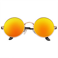 Premium Round Metal Mirrored Full Mirror Circle Sunglasses