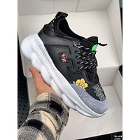 VERSACE Multicolor Sneakers Stitching Sports Leisure Shoes-1