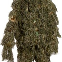 Modern Warrior Woodland and Forest Design Ghillie Suit, 3-Piece, One Size Fits Most Adults