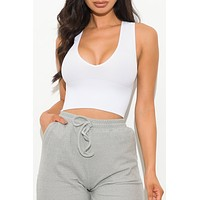 Better Than Ever Crop Top White