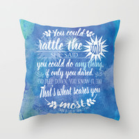 Throne of Glass by Sarah J. Maas Book Quote - Rattle The Stars Throw Pillow by Evie Seo