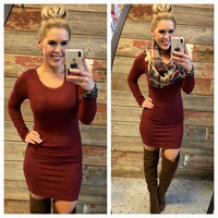 All for Myself Burgundy Dress