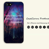 The woods,Personalized,Stars,iPhone 5 case, iPhone 5C Case, iPhone 5S , Phone case,iPhone 4 Case, iPhone 4S Case,Samsung Galaxy S3, S4