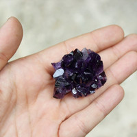 AMETHYST Dark Brazilian cluster crystal specimen metaphysical healing collectible mineral