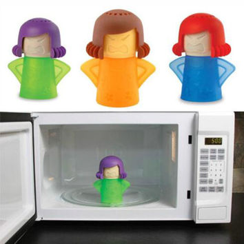 Angry Mama Microwave Oven Steam Cleaner With Vinegar and Water