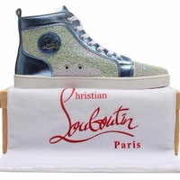 cc kuyou Christian Louboutin Blue Sea Crystal