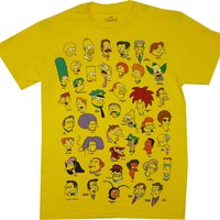 The Simpsons Character Heads T-Shirt |Vintage TV Sow T-Shirt