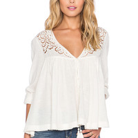 Free People Doin' It Right Blouse in Ivory