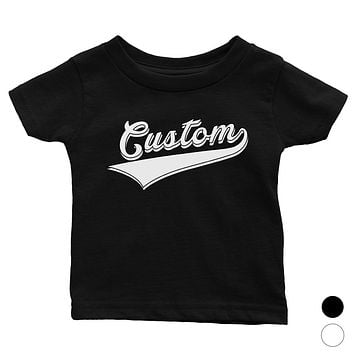 White College Swoosh Cool Classic Baby Personalized T-Shirt Gift