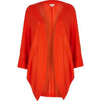 River Island Womens Red cocoon cardigan