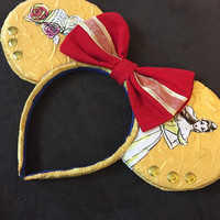 Beauty and the beast Mickey Mouse inspired ears