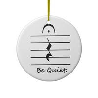 Music Notation Rest Be Quiet Christmas Tree Ornament