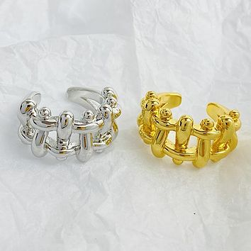 Fence braided open ring simple and fashionable ring