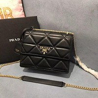 prada women leather shoulder bag satchel tote bag handbag shopping leather tote crossbody satchel shouder bag 42