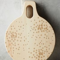 Falling Stars Cutting Board by Anthropologie in Neutral Size: One Size Kitchen