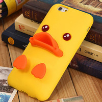Cute Duck Case Cover for iphone 5s 6 6s Plus