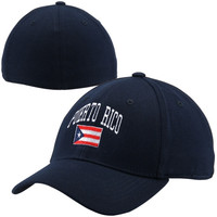 Top of the World Puerto Rico Country 1FIT Flex Hat - Navy Blue
