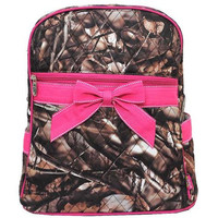 BNB Natural Camo® Quilted Large Backpack- Hot Pink