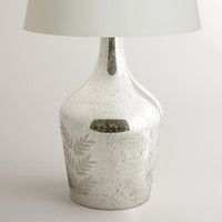 Mercury Glass Etched Table Lamp Base - World Market