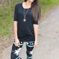 What I Really Mint To Say Stretch Print Leggings