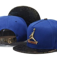 Perfect Jordan Metal Logo Snapback hats Women Men Embroidery Sports Sun Hat Baseball Cap Hat