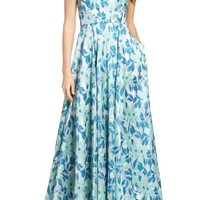 Adrianna Papell Jacquard Ballgown | Nordstrom