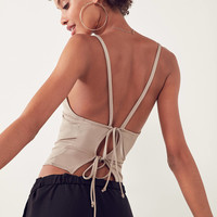 Silence + Noise Johnny Tie-Back Tank Top | Urban Outfitters