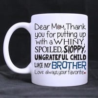 Amazon.com: Mothers Day Gift Mug Novelty Design 11oz Dear Mom Mug