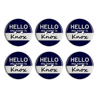 Knox Hello My Name Is Plastic Resin Button Set of 6