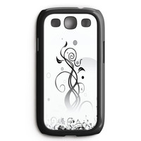 Floral White Abstract Samsung Galaxy S3 Case