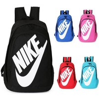 NIKE Fashion Letters Sports backpack (7 color) Sapphire Black(white letters) Tagre™