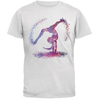 Galaxy Gymnast White Adult T-Shirt